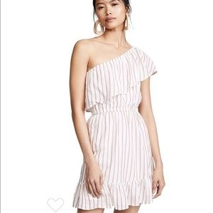 BB Dakota Striped One Shoulder Dress Size Large
